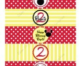 Minnie Mouse Water Bottle Labels