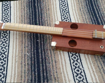 Left-handed Tenor Cigar Box Ukulele - #LTU -040417 -1