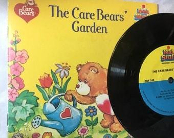 Care Bears gardden book  record 35 vinyl