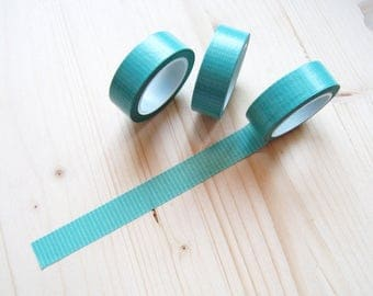 Aqua and White Dashed Line Washi Tape - Washi Tape 10 mt - Aqua and White Dashed Line Planner Washi Tape - 15mm x 10 mt - Happy Planner -