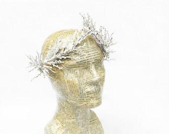 Winter Snow Crown, Winter Goddess, Ice Crown, Frozen Branch Headpiece, Twing Crown, Branch Crown, Winter Crown, Snow Crown, Winter Woodland
