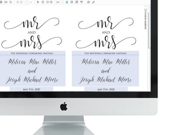 Instant Download - Editable Wedding Program - Mr and Mrs Calligraphy