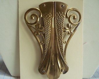 Art Nouveau Buckle Gold Tone Metal 1900's
