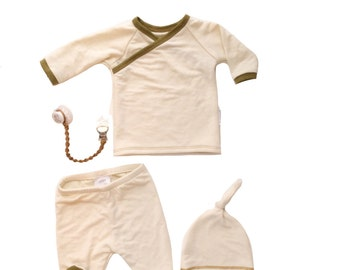 Bamboo baby clothes Newborn boy coming home outfit baby boy clothes baby boy outfit Hipster baby clothes cream baby outfit Ready to Ship