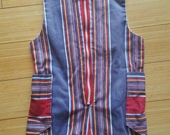 Vintage stripe romper jumper linen 2t 3t