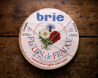 Vintage French Brie Cheese Box - French Country Kitchen Decor