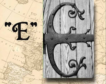 Letter E Alphabet Photography Black and White or Sepia 4 x 6 Photo Letter Unframed