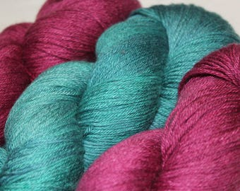 Merino & Silk Shine 4 ply yarn