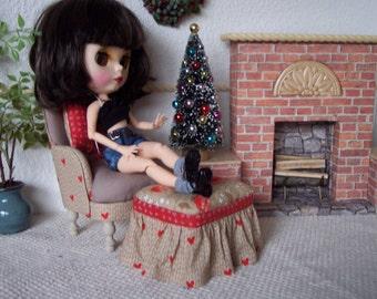 1:6  Chair for Barbie, Fashion Royalty & Silkstone Barbie, Blythe