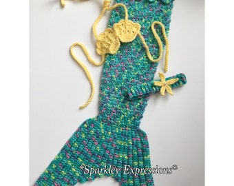 Crochet Mermaid Photography Prop-Infant Mermaid Tail-Kids Mermaid Costume-Toddler Photo Prop-Kids Mermaid Outfit-Girls Mermaid Costume