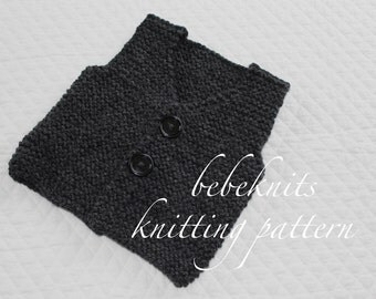 Bebeknits Simple French Style Children's Vest Knitting Pattern