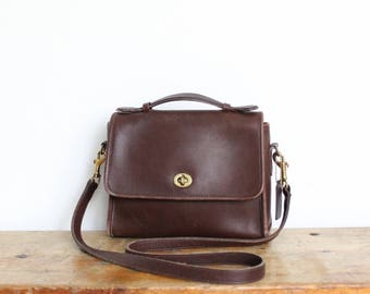Vintage Coach Bag // Coach Court MessengerBag // Crossbody Purse in Brown 9870
