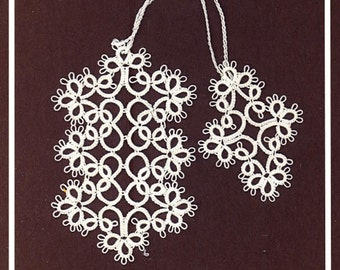 Tatted Lace Bookmark by Jan - Dainty White Flowers