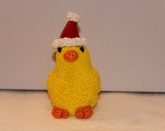 Christmas Chick in Hat