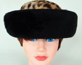 Cutts Hats Leopard Faux Fur Fashion Hat