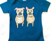 Custom bodysuit, dog of your choice hand painted on Organic Cotton baby bodysuit for baby, baby shower gift