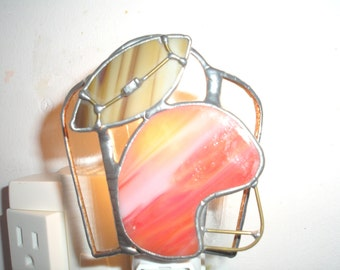 LT Stained glass red helmet Football night light lamp OU lovers paint on your team