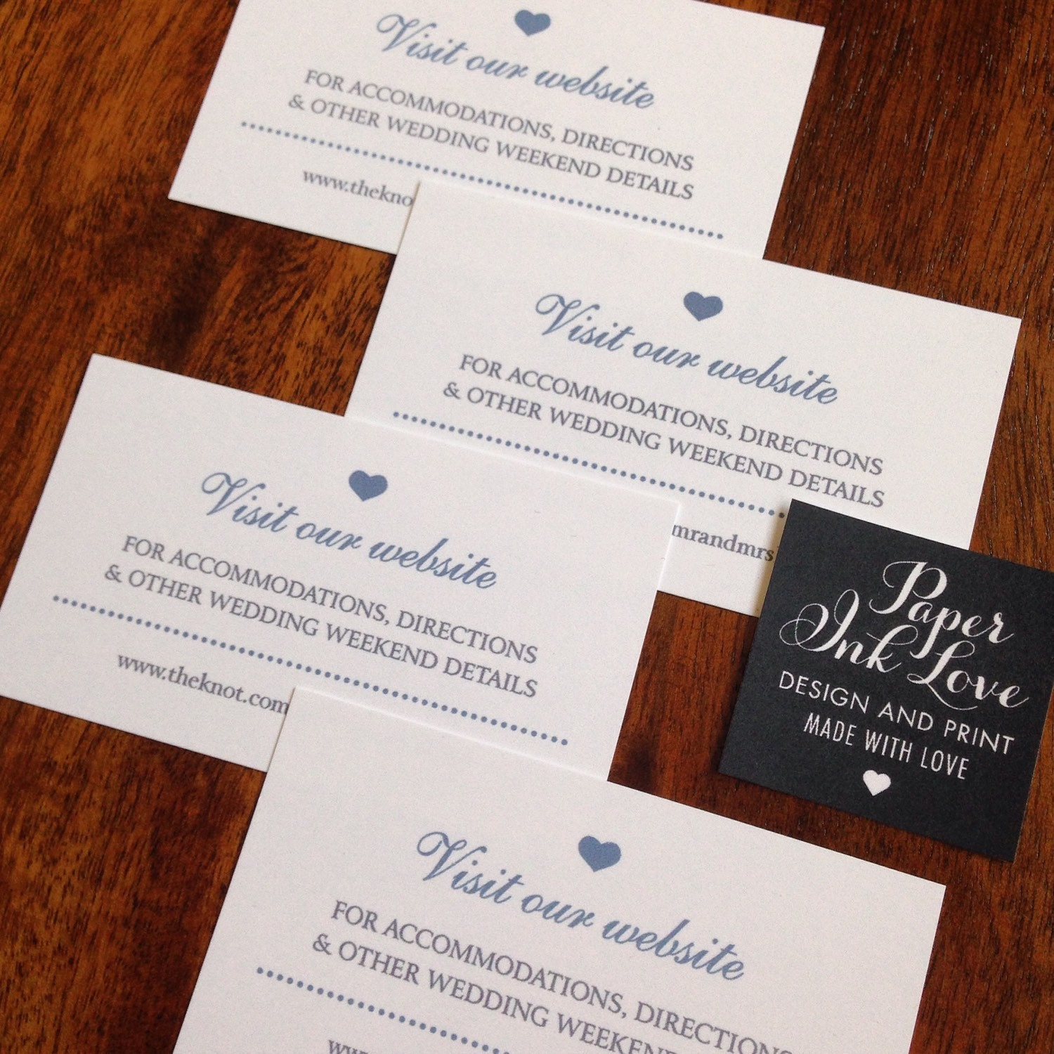 Wedding Website Cards Enclosure Cards Wedding Hashtag Cards
