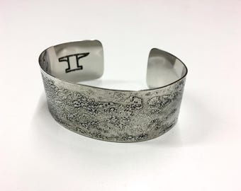 """Etched Cuff - Stainless Steel - 1"""" wide"""