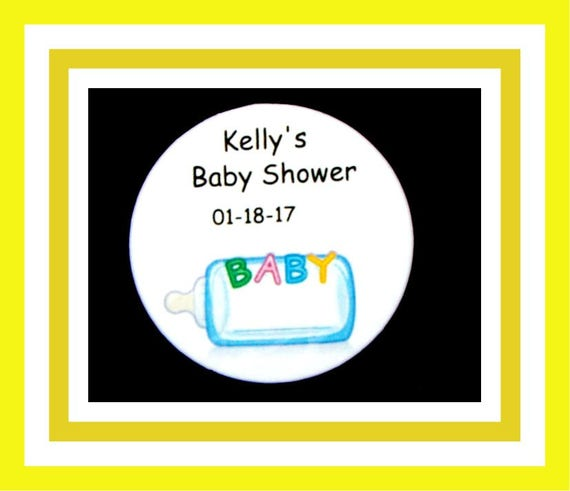 Baby Shower Bottle Pins,Personalized Button,Favor Tags,Its a girl,Its a Boy,Party Favors,Birthday Party Favors,Personalized Favors,Set of 10