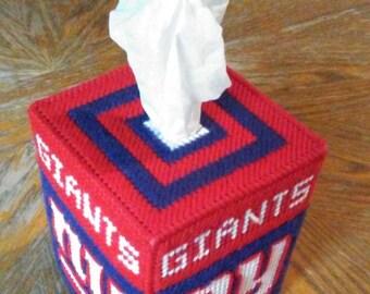 New York Giants Plastic Canvas Tissue Box Cover