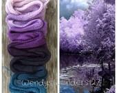 Hand Dyed Yarn, Gradient Yarn, Fingering Weight Yarn, Wisteria Pond