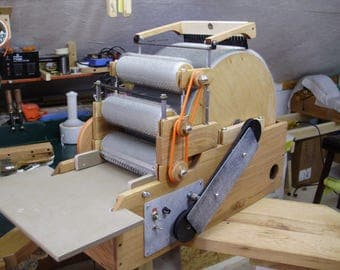 "SCP pro ""60"" electric drum carder"
