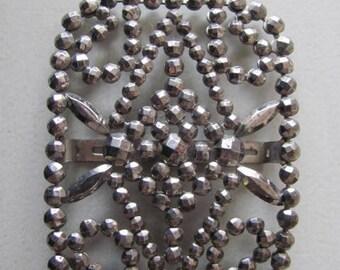 Art Deco Steel Cut Belt Buckle, Single Buckle, repurpose, Jewelry Design