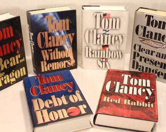 Tom Clancy Book Collection Including First Edition Clear and Present Danger 1989