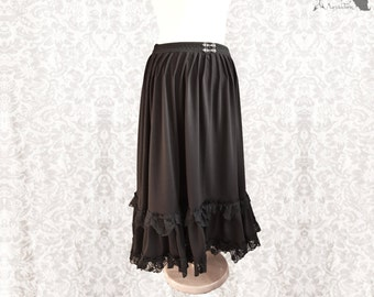 Victorian Steampunk skirt, long black goth skirt, Devota, Somnia Romantica, size large see item details for measurements