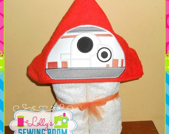 Star Wars droids hooded towel - you choose BB8, R2D2 or C3PO  - can be personalized