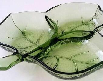 Green Vintage Leaf Candy / Trinket Dish