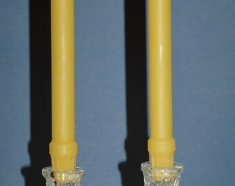 "Beeswax Colonial Taper Candle Set of 2 - Pure Beeswax Candles - Pure Beeswax 10"" Taper Candles"