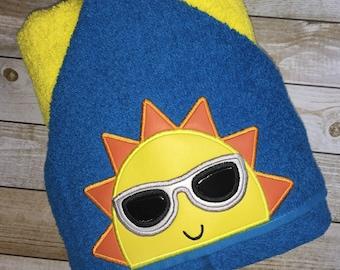 """Sunshine Boy Hooded Bath Towel 27"""" x 52"""""""
