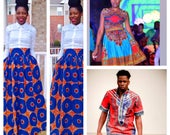 African Ankara Clothing, Dashiki Outfit, African Clothing.