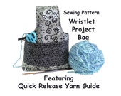 wristlet project bag knitting project bag crochet project bag small project bag knitting organizer supply bag