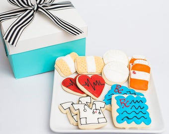 Get Well Soon Sugar Cookies, Get Well Gift, Get Well Soon, Get Well Care Package, Get Well Gift Basket, Nurse Gift, Doctor Gift