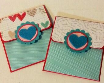 Valentine's Day giftcard holders (2) love birthday