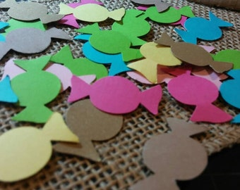 Candy Table Confetti 150CT- Candyland Party- Table Confetti- Cutout- Custom Colors Available