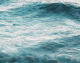 Waves at Dusk, Soft Focus Ocean Photography, 10x10