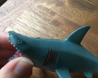 Small rubber shark toy