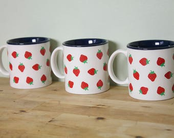 Vintage 1980's Strawberry Mugs Potpourri Press 3