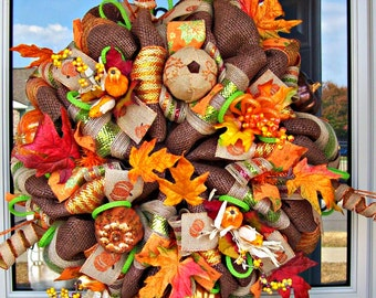 Lavish Fall Wreath (READY TO SHIP)
