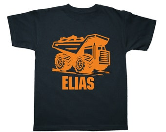 Dump Truck Shirt Personalized Birthday Shirt - any name - pick your colors!