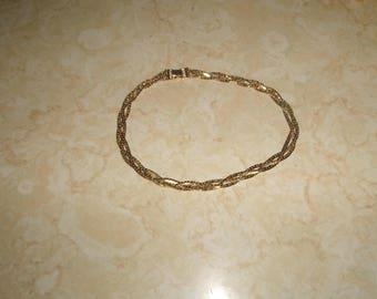 vintage necklace braid goldtone chain napier
