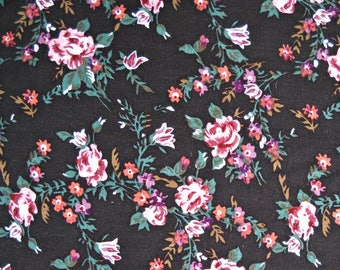 Pink Beauty Floral Fabric, 100 Percent Rayon, Fabric by the Yard