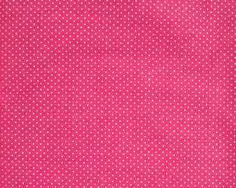 Pink Swiss Dot Fabric, by Fisher Brothers Textiles, 100 Percent Cotton, Fabric by the Yard