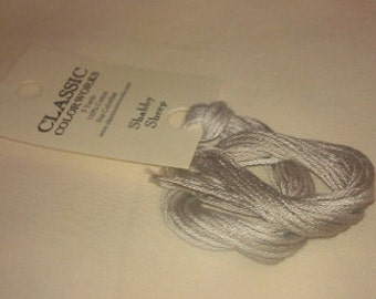 SHABBY SHEEP hand-dyed embroidery floss from Classic Colorworks at thecottageneedle.com cross stitch thread