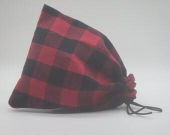 Buffalo Plaid Santa Sack, Christmas Gift Sack, Christmas Plaid Bags, Cloth Gift Bag, Lumberjack Bags, Holiday Gift Wrap, Reusable Gift Bags