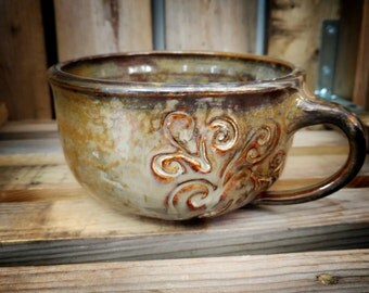 Soup Mug / Handmade Pottery Soup Crock / Soup Bowl with Handle / Ceramic Bowl / Unique / Gift
